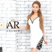 [レース切替えアシンメトリータイトミニドレス]AngelR(エンジェルアール)|AR9231