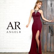 【予約(ワインレッド/S・M)(ホワイト/S)2月下旬から3月上旬発送】[デコルテVデザインビジュータイトロングドレス]AngelR(エンジェルアール) AR9240