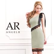 【予約】[ワンショルダーリボンシアーシアーレースタイトミニドレス]AngelR(エンジェルアール)|AR9309【3月下旬〜4月上旬頃より発送】