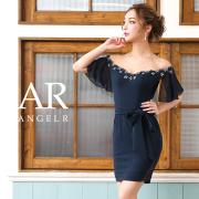 【予約】[オフショルダーシフォンスリーブタイトミニドレス]AngelR(エンジェルアール)|AR9311【3月下旬〜4月上旬頃より発送】