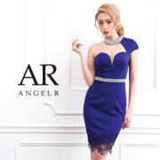 【予約】[オーロラビジューアシンメトリースリーブタイトミニドレス]AngelR(エンジェルアール)|AR9314【3月下旬〜4月上旬頃より発送】