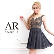 【予約】[ノースリーブビジューシフォンスカートフレアミニドレス]AngelR(エンジェルアール)|AR9316【4月上旬〜4月中旬頃より発送】