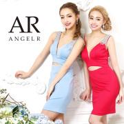 【予約】[オーロラビジューウエストカットタイトミニドレス]AngelR(エンジェルアール)|AR9322【5月下旬〜6月上旬頃より発送】