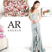 [ラメグリッターフリルスリットロングドレス]AngelR(エンジェルアール)|AR9332