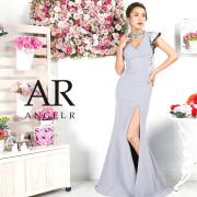 [チョーカー風フラワーレースフリルロングドレス]AngelR(エンジェルアール)|AR9333