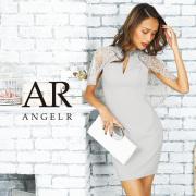 [デザインレースケープビジュータイトミニドレス]AngelR(エンジェルアール)|AR9338