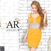 [ウエストビジューレッグデザインタイトミニドレス]AngelR(エンジェルアール)|AR9341