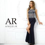 【予約】[ビジューメッシュシアータイトロングドレス]AngelR(エンジェルアール)|AR9405【5月下旬〜6月上旬頃より発送】