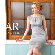 [レースシアーデコルテカットタイトミニドレス]AngelR(エンジェルアール)|AR9807