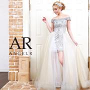 【予約】[2WAYオフショルダーラメメッシュショートインロングドレス]AngelR(エンジェルアール)|AR9809【4月上旬〜中旬頃より発送】