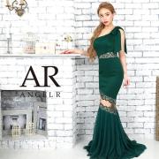 【予約】[レース切替えワンショルダーリボンタイトロングドレス]AngelR(エンジェルアール)|AR9821【9月中旬~下旬頃より発送】