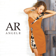 [アシンメトリースリットレースタイトミニドレス]AngelR(エンジェルアール) AR9827