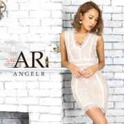 【予約】[フラワーレースバンデージタイトミニドレス]AngelR(エンジェルアール)|AR9908【9月上旬~中旬頃より発送】
