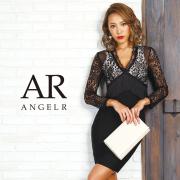 [レースロングスリーブフリンジバンデージミニドレス]AngelR(エンジェルアール) AR9911