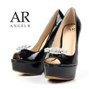 [ストーンブローチ付きエナメルハイヒール]AngelR(エンジェルアール)|SH023LI
