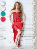 アンティーク刺繍ペプラムショートinロングドレス|高級キャバドレスAngelR(エンジェルアール)|(AR4232)