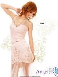 スーツタイプショートinロングドレスロングドレス|高級キャバドレスAngelR(エンジェルアール)|(AR4205)