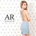 [バックビジューVネックタイトミニドレス]AngelR(エンジェルアール)|AR20213
