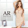 [メッシュ&ビジューデザインタイトミニドレス]AngelR(エンジェルアール) AR20232