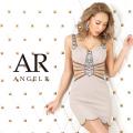 【予約(ホワイト/S・M)8月上旬から中旬発送】[ラグジュアリービジューショルダーデザインタイトミニドレス]AngelR(エンジェルアール)|AR20319