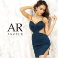 【予約(ホワイト/S・M)(ブルー/S)10月上旬から中旬発送】[ダイヤカッティングシアータイトミニドレス]AngelR(エンジェルアール)|AR20322