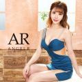 【予約[(レッド/XS・S・M)(ブルー/XS)(ブラック/XS・S)12月上旬から中旬発送][(ピンク/XS・S・M)1月上旬から中旬発送]】[アシンメトリーショルダーメッシュカッティングタイトミニドレス]AngelR(エンジェルアール)|AR20331
