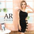 【予約/9月下旬~10月上旬頃より発送】[アシンメトリービジュー&レースデザインワンショルダータイトミニドレス]AngelR(エンジェルアール)|AR20332