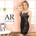 [バスト&サイドレースビジュータイトミニドレス]AngelR(エンジェルアール) AR20333