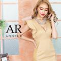 [ワイドフリルスリーブレースデザインタイトミニドレス]AngelR(エンジェルアール)|AR20334