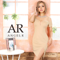 【予約/9月下旬~10月上旬頃より発送】[シアーパターンオープンショルダータイトミニドレス]AngelR(エンジェルアール)|AR20335