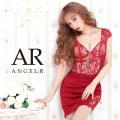 [レースバイカラーデザイン2ピースタイトミニドレス]AngelR(エンジェルアール)|AR20342