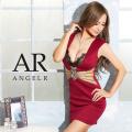 [ウエストメッシュ&ビジューバストレースタイトミニドレス]AngelR(エンジェルアール) AR20349