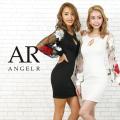 [フラワーフレアスリーブタイトミニドレス]AngelR(エンジェルアール)|AR20801