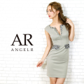 [ウエスト&デコルテビジュータイトミニドレス]AngelR(エンジェルアール) AR20804