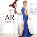 【予約(ロイヤルブルー/S・M)(ベージュ/S)(ホワイト/S)(ブラック/S)(レッド/S・M)11月上旬から中旬発送】[サイドラグジュアリービジューロングドレス]AngelR(エンジェルアール)|AR20822
