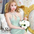 [デコルテビジューデザインタイトミニドレス]AngelR(エンジェルアール)|AR21219