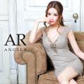 【予約】[ピンク・ブルー・グレー/Sサイズ][ブルー・グレー/Mサイズ]5月上旬から5月中旬より発送[バストビジューフラワーレースデザインタイトミニドレス]AngelR(エンジェルアール) AR21303