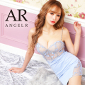 【予約/5月上旬から中旬より発送】[アッパーレース&ビジューデザインタイトミニドレス]AngelR(エンジェルアール)|AR21315