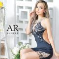 【予約/9月中旬から9月下旬より発送】[フロントデコルテスパンコールビジュータイトミニドレス]AngelR(エンジェルアール)|AR21337