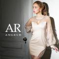 [フラワーレースワイドスリーブスタイトミニドレス]AngelR(エンジェルアール)|AR21805
