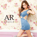 [バストレースアップアシンメトリータイトマイクロミニドレス]AngelR(エンジェルアール) AR21807