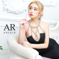 [デコルテビジューバックシアータイトミニドレス]AngelR(エンジェルアール)|AR21820