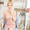 【予約/11月上旬から11月中旬より発送】[アッパーパールレースデザインタイトミニドレス]AngelR(エンジェルアール)|AR21842