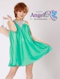 フリーサイズ 胸元キラキラホルターネックミニドレス|高級キャバドレスAngelR(エンジェルアール)|(AR3212)