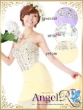 胸元たっぷりビジュー飾りインミニドレス |高級キャバドレスAngelR(エンジェルアール)|(AR3614)