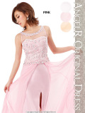 フラワーレース裾ワイヤー入りロングドレス|高級キャバドレスAngelR(エンジェルアール)|(AR4326)