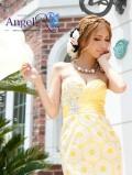 花柄レース胸元ビジューベアミニドレス|高級キャバドレスAngelR(エンジェルアール)|(AR4506)
