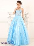 フラワーレース&モチーフ使い ふわふわ系プリンセスドレス ベアトップロングドレス|高級キャバドレスAngelR(エンジェルアール)|(AR5120)