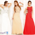 煌びやかパール&ビジュー刺繍 ネックレスデザインのロングドレス|高級キャバドレスAngelR(エンジェルアール)|(AR6701)