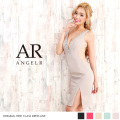 [脇&ウエストシアーデコルテビジューワンピースドレス]Angel R(エンジェルアール)|AR8218